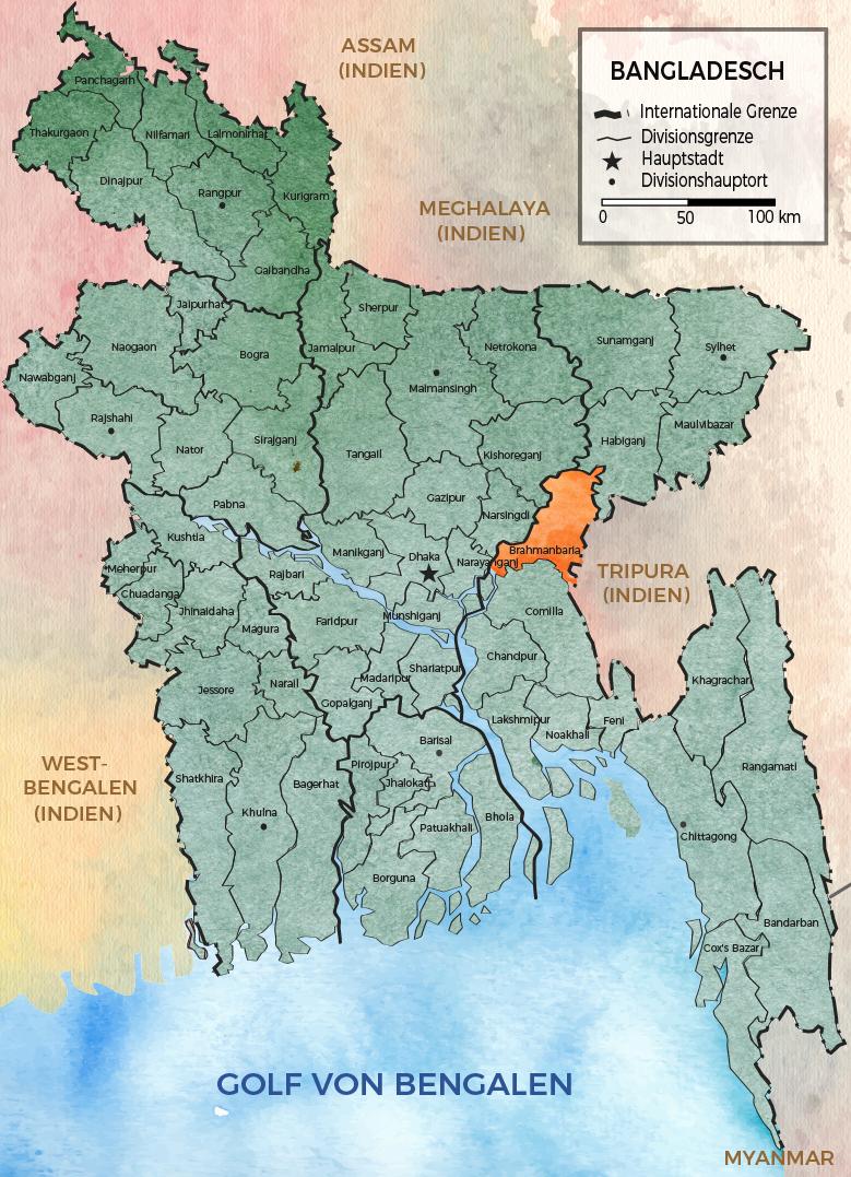 Bangladesh Karte